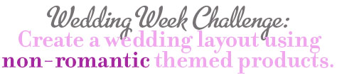 Wedding challenge