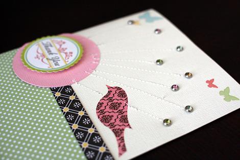 Thank you sketch card - detail - blog - susan weinroth