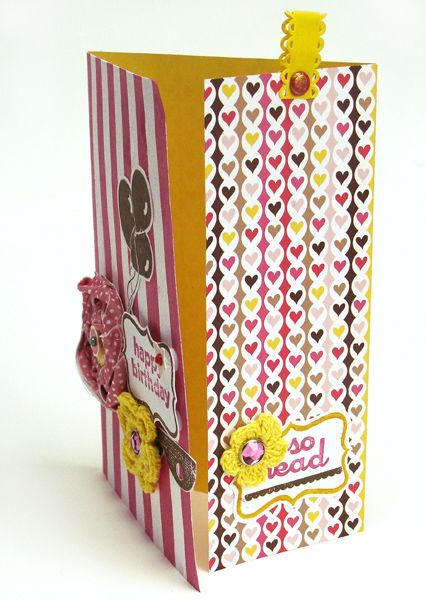H-Birthday card bookmark