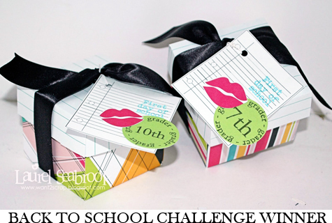 Back to School Challenge Winner