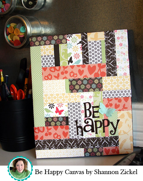 Be Happy Canvas by Shannon Zickel
