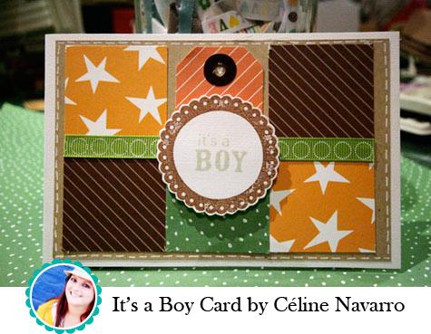 It's a Boy Card by Céline Navarro