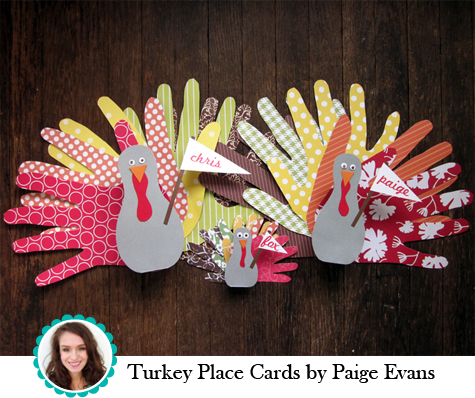 Turkey Place Cards by Paige Evans
