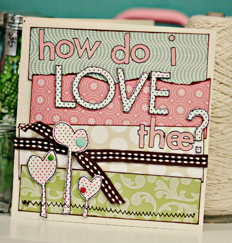 How do i love thee card
