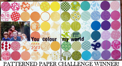 Patterned Paper Challenge Winner 2