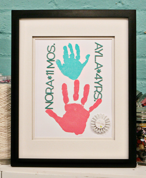 unique picture for home: embossed handprints wall hanging tutorial