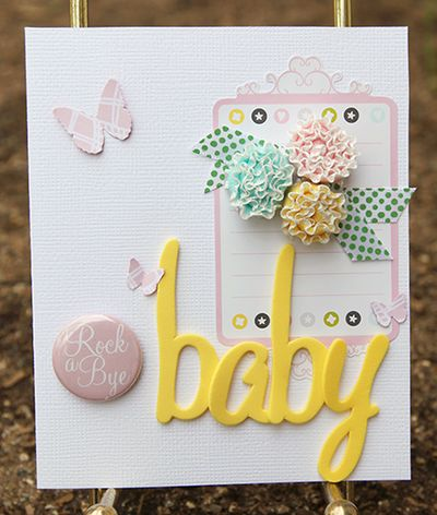 Amy Parker Pink Baby Card American Crafts GDT
