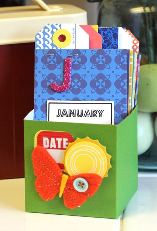 birthday ideas for kids: mini birthday calendar tutorial