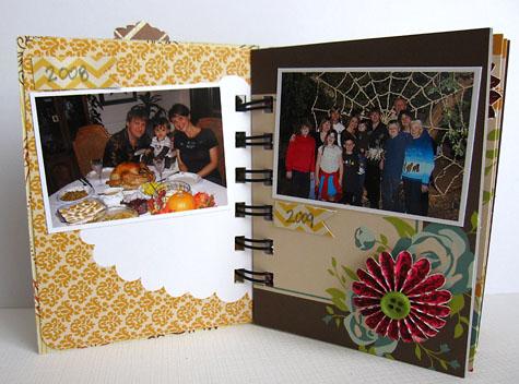Daniela Dobson_Grateful mini album page 1 and 2