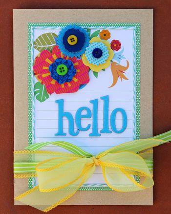 Hello card small