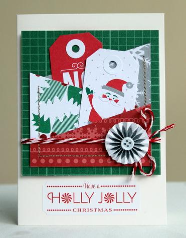 Holly jolly card