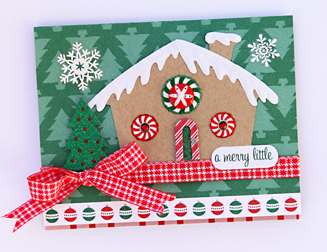 Gingerbread house card small