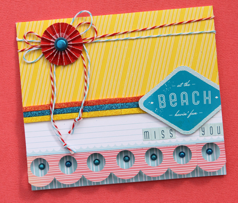 Miss you card small