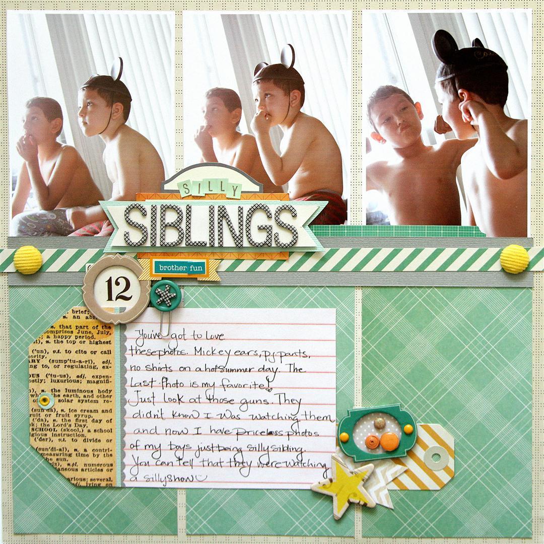 American Crafts Studio Blog: Siblings Layout by Heidi Sonboul