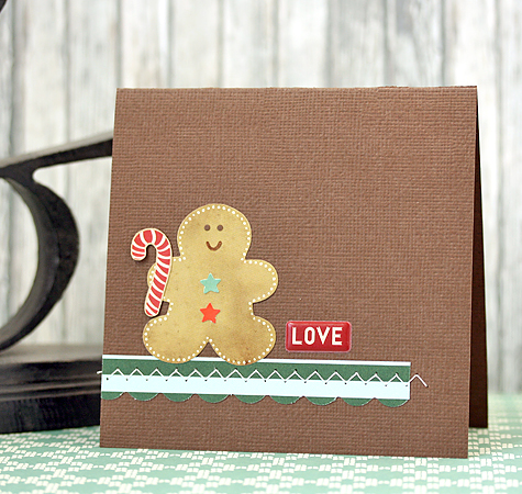 Courtney Kelley Gingerbread Man Card