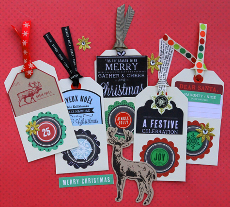 Envelope christmas tags small