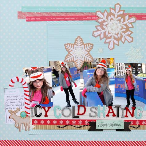 Christmas layout three small