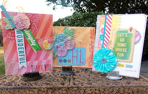 Card Trio by Heather Leopard