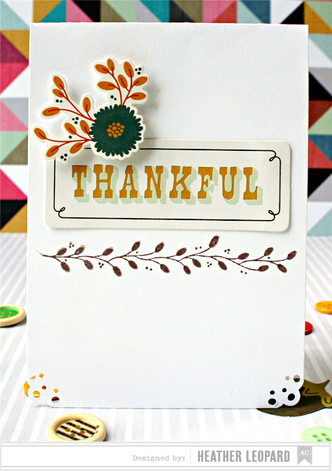 Thankful Card by Heather Leopard for American Crafts