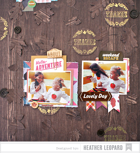 Fall Adventures by Heather Leopard for American Crafts