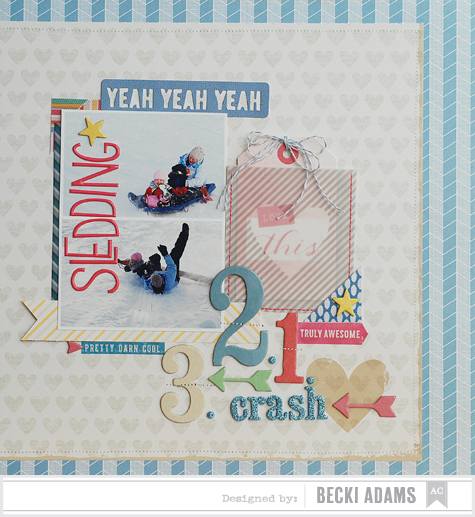 Becki Adams_Sledding Crash_American Crafts Blog