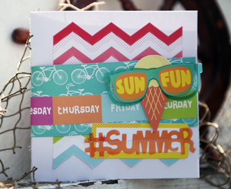 American Crafts #summer mini album cover