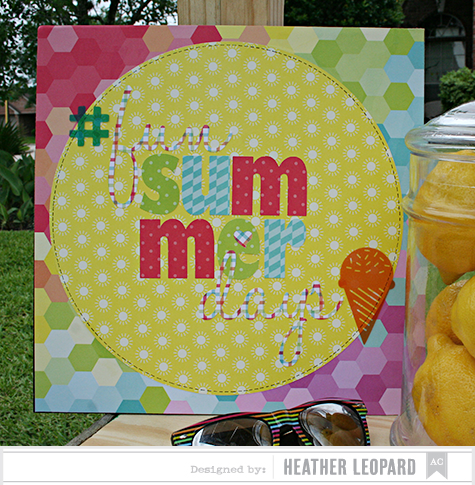 Fun Summer Days Sign 9 by Heather Leopard AC