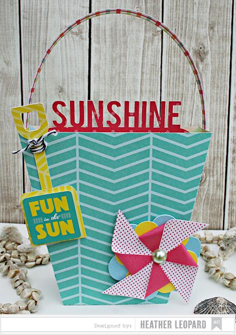 Sunshine Beach Bucket Card by Heather Leopard