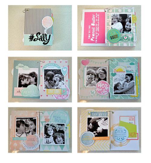 Mini album collage