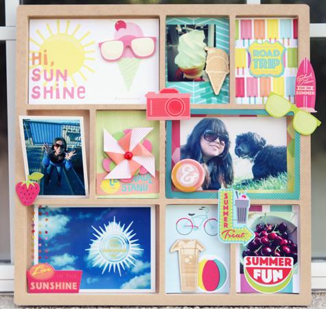 American Crafts Hello Sunshine printer's tray