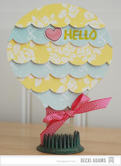 Becki Adams_Hot Air Balloon Vintage Card