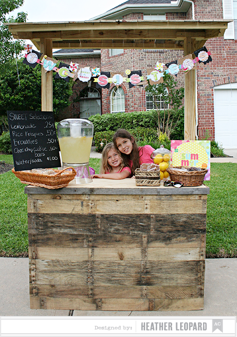 Two Sisters Lemonade Stand Girls by Heather Leopard AC