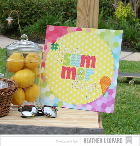 Fun Summer Days Sign 9a by Heather Leopard AC