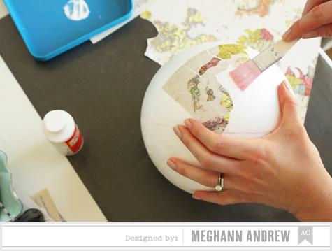 American Crafts Studio Blog: Vintage Globe Tutorial by