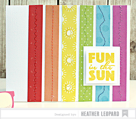 Fun in the Sun Card by Heather Leopard American Crafts