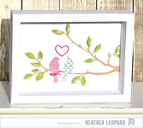 Love Birds Shadow Box by Heather Leopard
