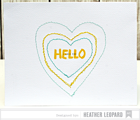 Hello I Love You Card by Heather Leopard AC