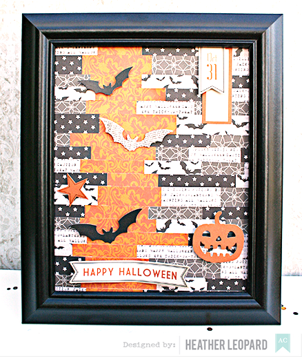 Happy Halloween home decor by Heather Leopard for AC