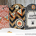 Trick or Treat Tri-fold Tag Card Inside by Heather Leopard