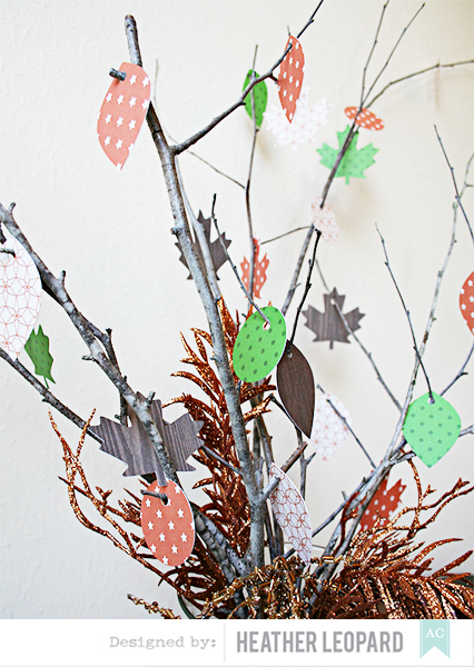 Thanksgiving Tree Details by Heather Leopard American Crafts