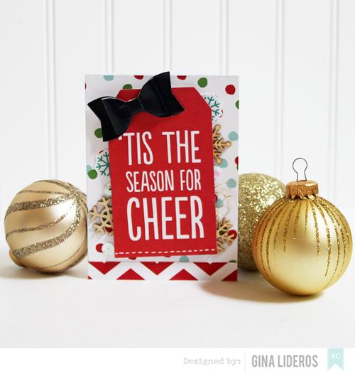 Gina Lideros Merry & Bright Cheer card