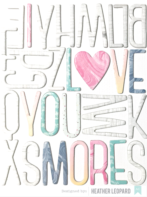 Love You More Layout American Crafts