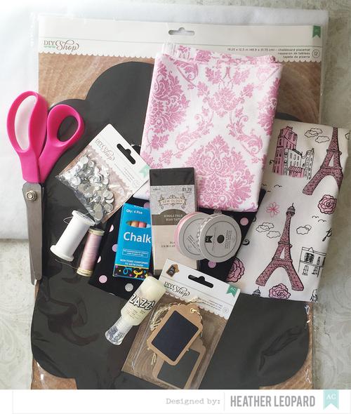Chalk Mat Tutorial by Heather Leopard Supplies