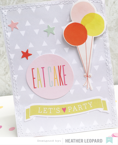 Eat Cake Card by Heather Leopard AC