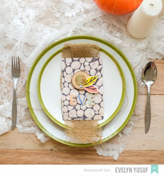 Fall Luncheon Table Card Amy Tan Finders Keepers Cover by  Evelynpy