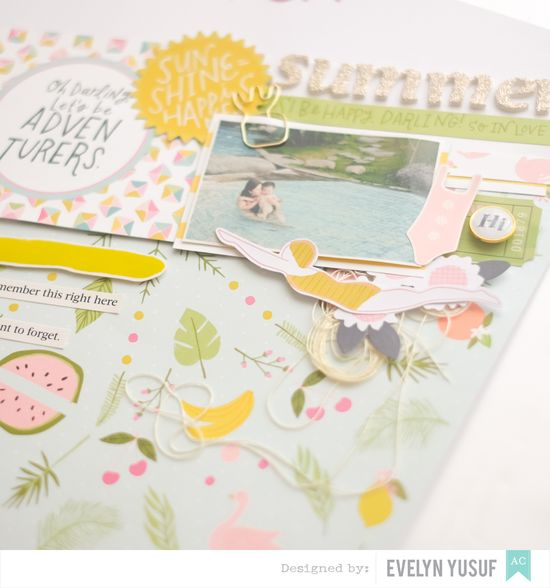 Summer Fun Details 3 American Craft Happy Place Dear Lizzy   by Evelynpy