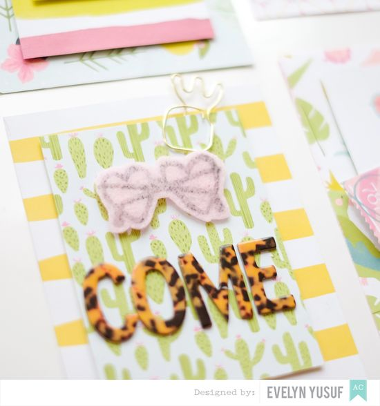 Summer invitations American Crafts Happy Place Dear Lizzy  Details1 by Evelynpy