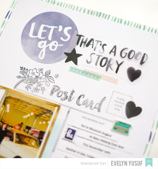 Travel Let's Go Amy Tangerine Better Together American  Crafts by Evelynpy Details 2