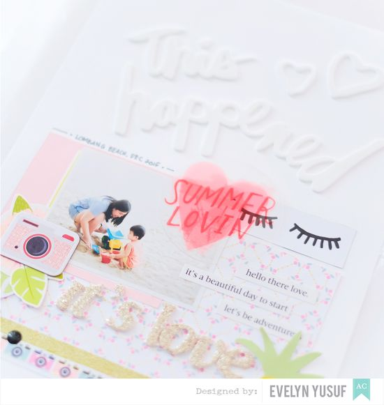 Hello Summer American Crafts Happy Place Details 1 by  Evelynpy