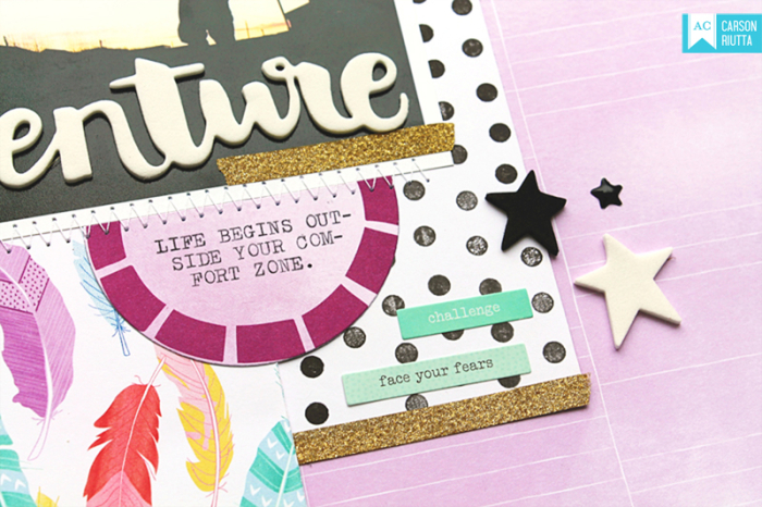 Shimelle Little by Little Scrapbook Layout by Carson Riutta Close 4